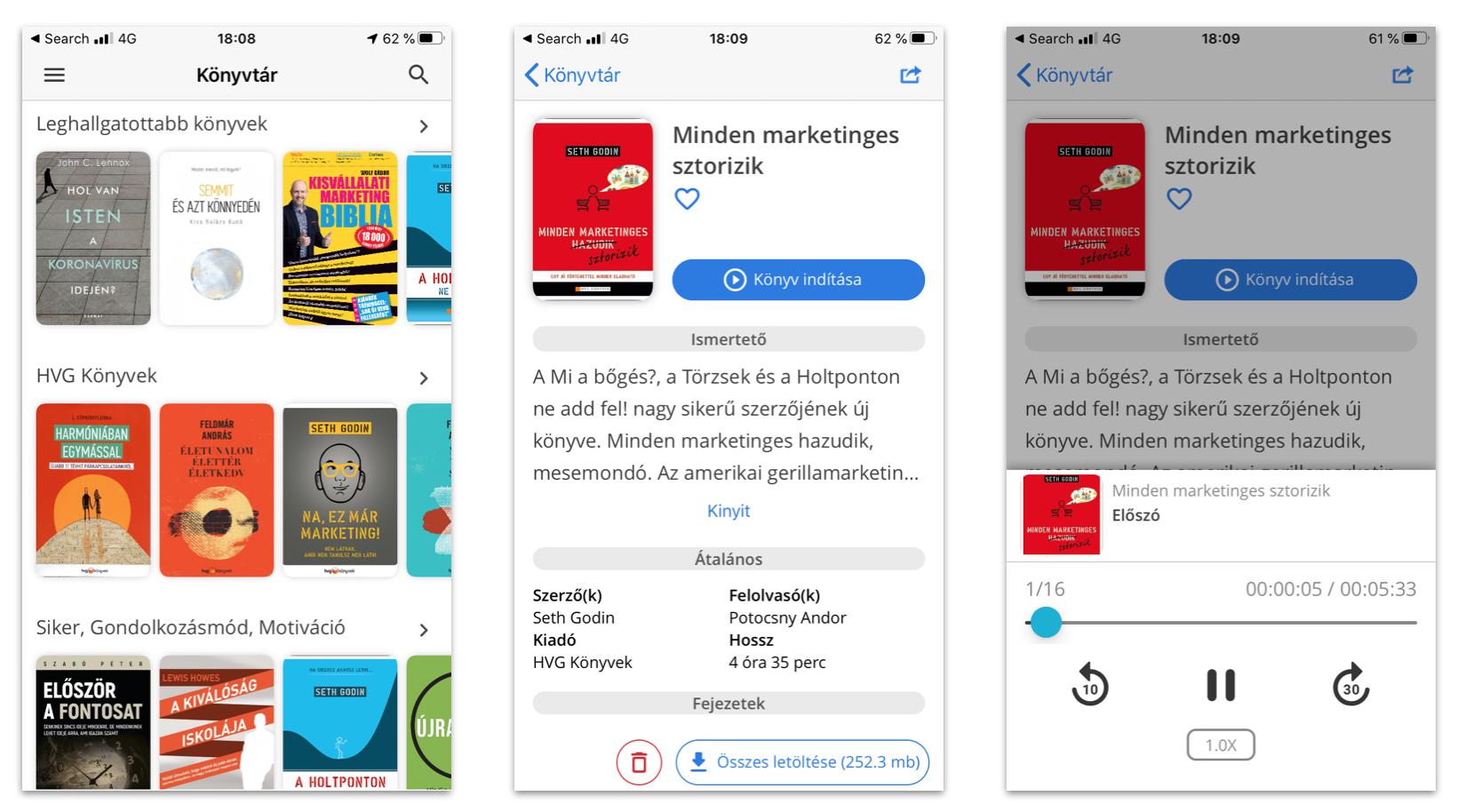 voiz app felület kuponkod felhasználása után